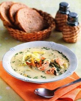 Финский рыбный суп с копченой семгой, пошаговый рецепт с фото