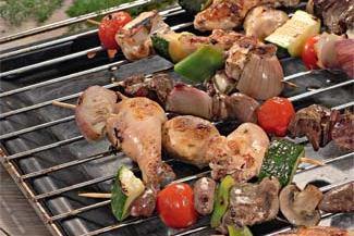 Шашлыки из курицы с овощами, пошаговый рецепт с фото